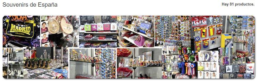 tienda de souvenirs online