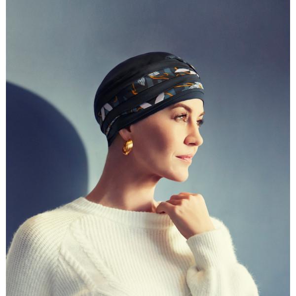 Los pañuelos oncológicos tipo turbante pueden ser de tejidos como algodón, fibra de bambú o lino, y combinaciones con lana o tejido polar.